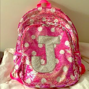 """Justice """"J"""" Flipping Sequence Backpack"""